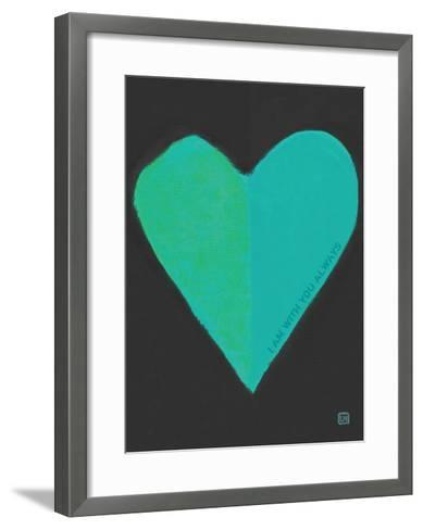 Turquoise Heart-Lisa Weedn-Framed Art Print