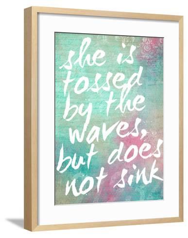 Tossed by the Waves-Cheryl Overton-Framed Art Print