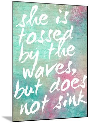 Tossed by the Waves-Cheryl Overton-Mounted Giclee Print