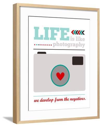Life is Like Photography-Cheryl Overton-Framed Art Print