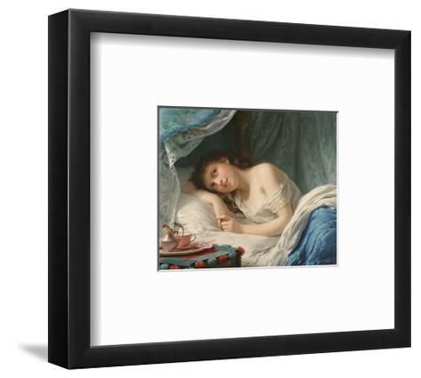A Reclining Beauty-Fritz Zuber-Buhler-Framed Art Print