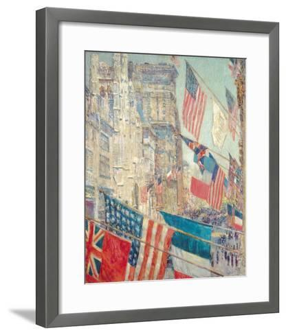 Allies Day, May 1917-Frederick Childe Hassam-Framed Art Print