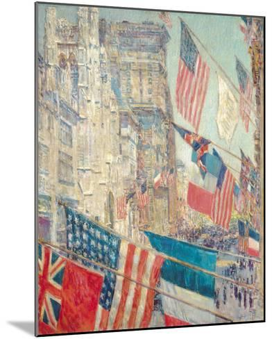 Allies Day, May 1917-Frederick Childe Hassam-Mounted Giclee Print