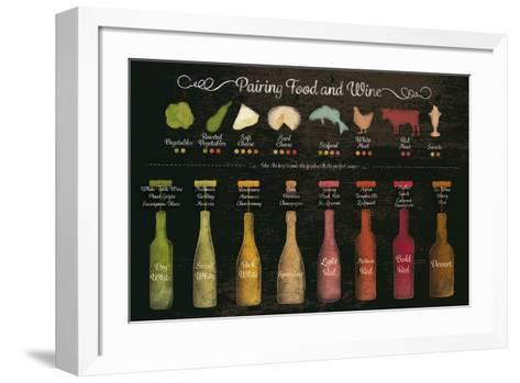 Pairing Food and Wine-The Vintage Collection-Framed Art Print
