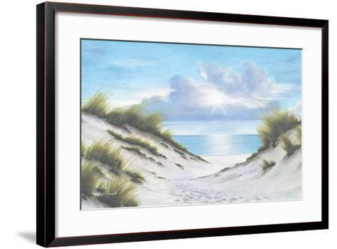 Sand and Sea-Diane Romanello-Framed Art Print