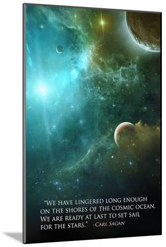 Carl Sagan Quote-Lynx Art Collection-Mounted Art Print