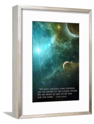 Carl Sagan Quote-Lynx Art Collection-Framed Art Print
