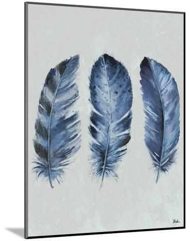 Indigo Blue Feathers II-Patricia Pinto-Mounted Art Print