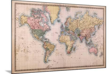 Map - Mercators Projection--Mounted Poster