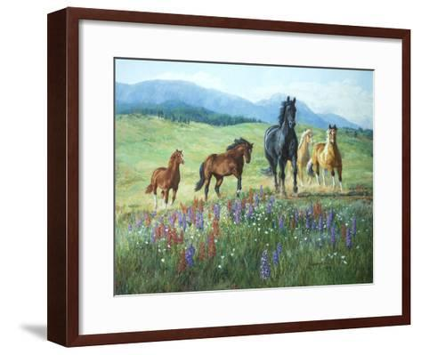 Wildflower Trail-Claire Goldrick-Framed Art Print