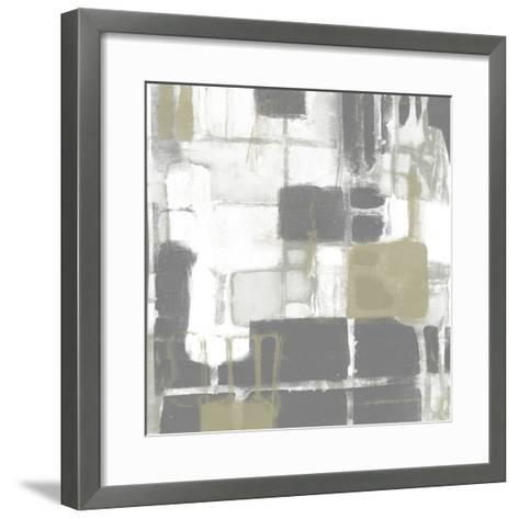 Neutral Quadrants II-Jennifer Goldberger-Framed Art Print