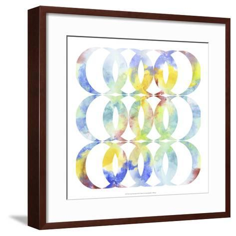 Metric Watercolors I-Jennifer Goldberger-Framed Art Print