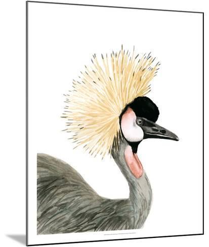 Watercolor Crested Crane-Naomi McCavitt-Mounted Giclee Print
