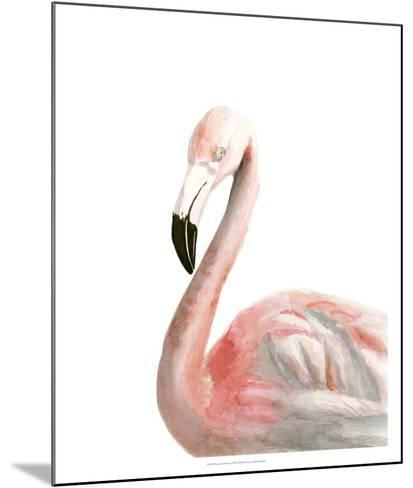 Watercolor Flamingo-Naomi McCavitt-Mounted Giclee Print