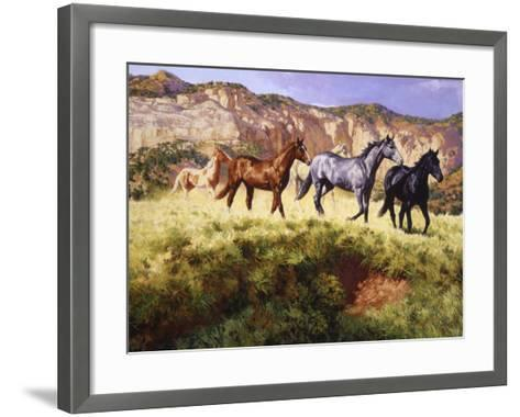 At the Crossing-Claire Goldrick-Framed Art Print