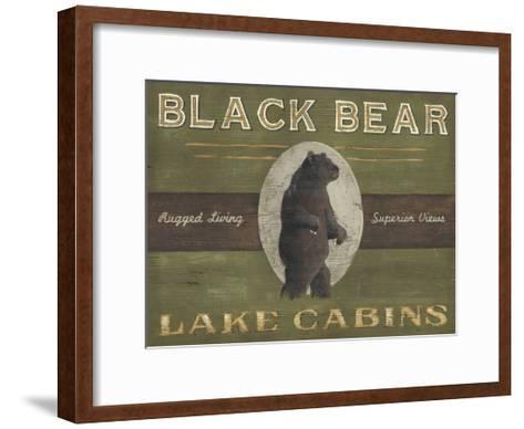 Lodge Sign V-June Erica Vess-Framed Art Print