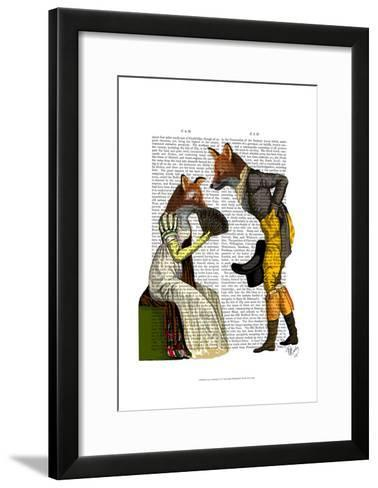 Foxes Courting-Fab Funky-Framed Art Print