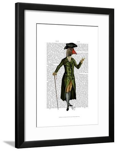 Goose in Green Regency Coat-Fab Funky-Framed Art Print