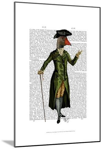 Goose in Green Regency Coat-Fab Funky-Mounted Art Print