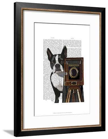 Boston Terrier Photographer-Fab Funky-Framed Art Print