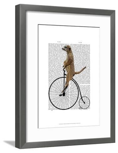 Meerkat on Black Penny Farthing-Fab Funky-Framed Art Print