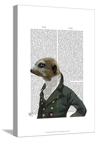Dandy Meerkat Portrait-Fab Funky-Stretched Canvas Print