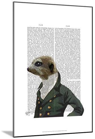 Dandy Meerkat Portrait-Fab Funky-Mounted Art Print