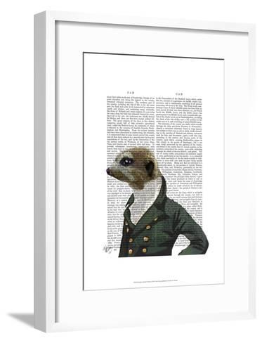 Dandy Meerkat Portrait-Fab Funky-Framed Art Print