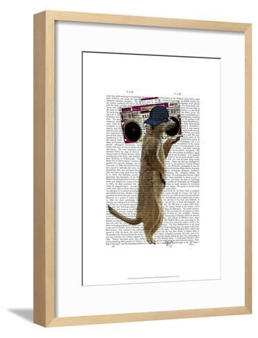 Meerkat with Boom Box Ghetto Blaster-Fab Funky-Framed Art Print
