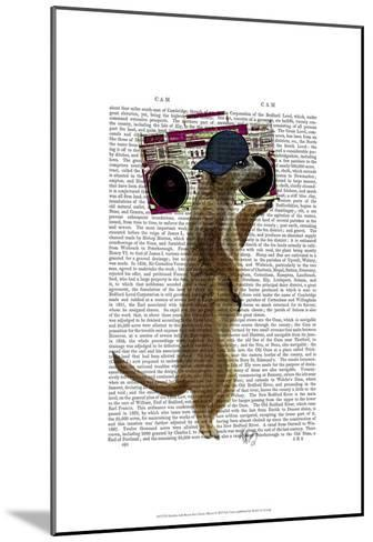 Meerkat with Boom Box Ghetto Blaster-Fab Funky-Mounted Art Print