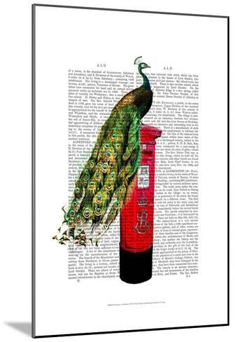 Peacock on Postbox-Fab Funky-Mounted Art Print