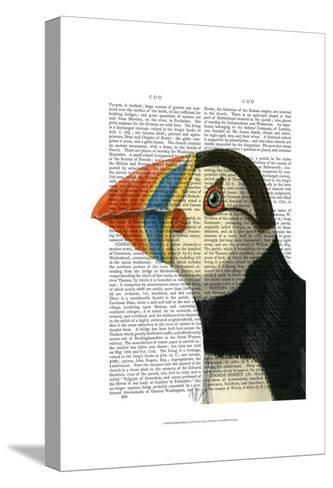 Puffin Portrait-Fab Funky-Stretched Canvas Print