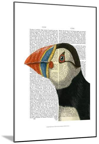 Puffin Portrait-Fab Funky-Mounted Art Print