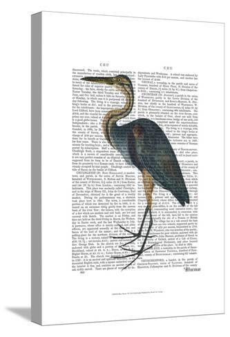 Blue Heron 3-Fab Funky-Stretched Canvas Print