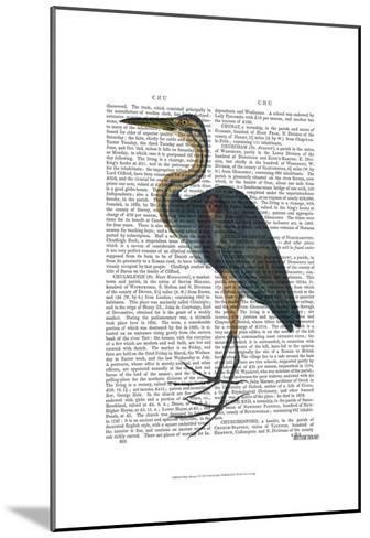 Blue Heron 3-Fab Funky-Mounted Art Print