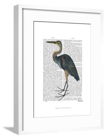 Blue Heron 3-Fab Funky-Framed Art Print
