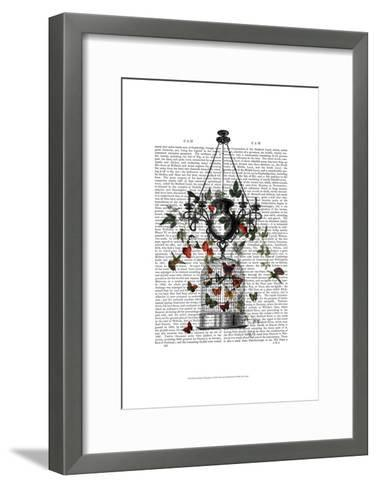 Strawberry Chandelier-Fab Funky-Framed Art Print