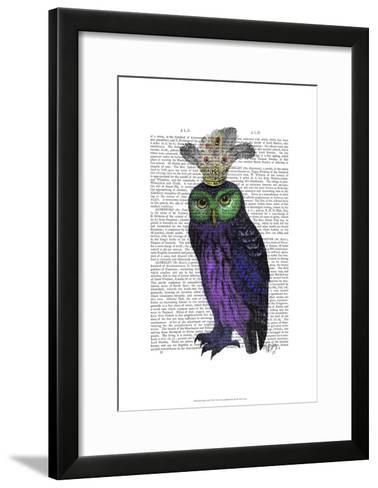 Purple Owl-Fab Funky-Framed Art Print