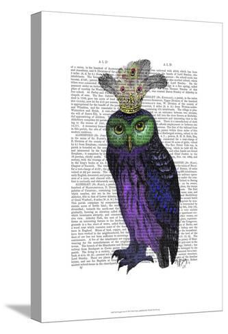 Purple Owl-Fab Funky-Stretched Canvas Print
