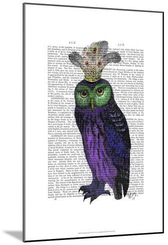 Purple Owl-Fab Funky-Mounted Art Print