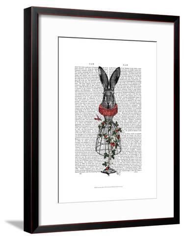 Strawberry Hare-Fab Funky-Framed Art Print