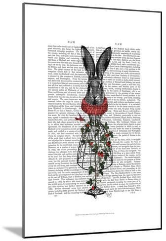 Strawberry Hare-Fab Funky-Mounted Art Print