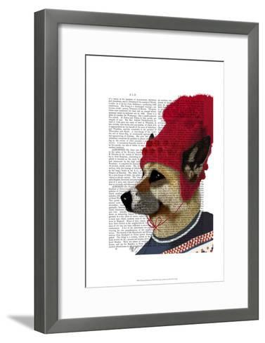 Dog in Ski Sweater-Fab Funky-Framed Art Print