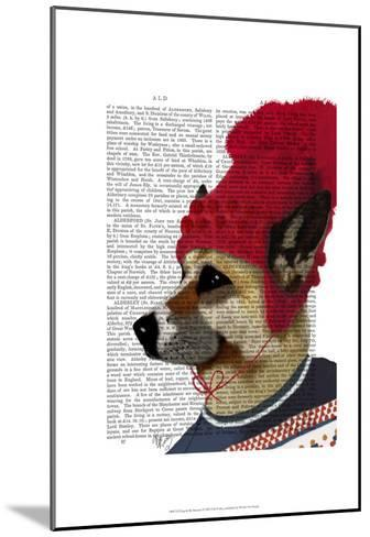 Dog in Ski Sweater-Fab Funky-Mounted Art Print