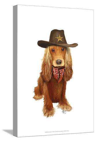 Cocker Spaniel Cowboy-Fab Funky-Stretched Canvas Print