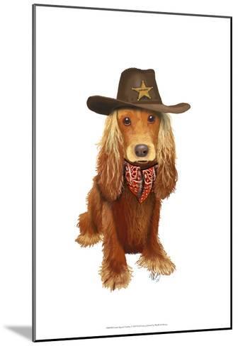 Cocker Spaniel Cowboy-Fab Funky-Mounted Art Print