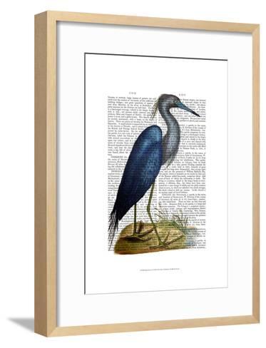 Blue Heron 2-Fab Funky-Framed Art Print