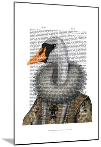 Elizabethan Swan-Fab Funky-Mounted Art Print