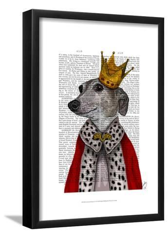 Greyhound Queen-Fab Funky-Framed Art Print