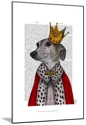 Greyhound Queen-Fab Funky-Mounted Art Print
